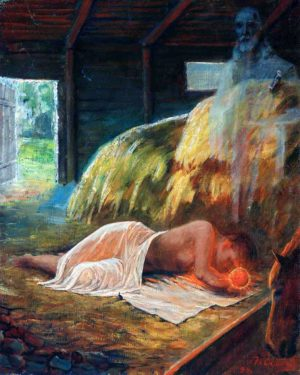 Suskov - Nascita di Gesù Bambino - Litografia
