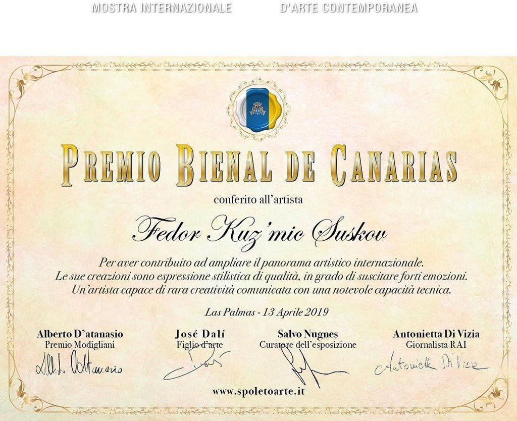 Suskov - Premio Bienal de Canarias 2019
