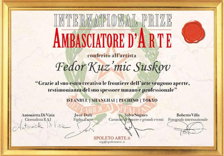 Suskov - Premio Ambasciatore Arte - Tokyo 2019